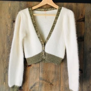 Free People fluffy cropped cardigan